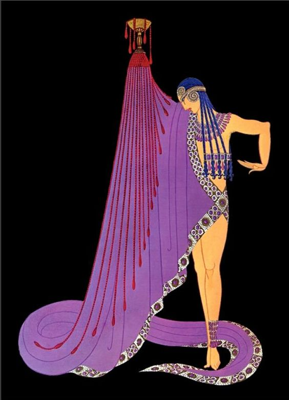 Artwork By Erte Art Deco Egyptian Influence Slave Of