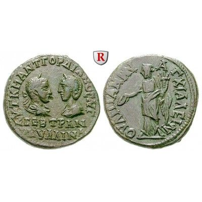 NEW  Römische Provinzialprägungen, Thrakien, Anchialos, Tranquillina, Frau Gordianus III., 5 Assaria, vz: Thrakien, Anchialos. AE-5… #coins