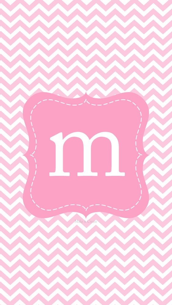 M monogram pink iphone wall