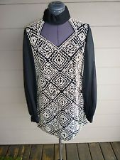 Mod Partridge Family  Long Tunic Top w/ Millions of Teensy Beads Sheer Sleeves M