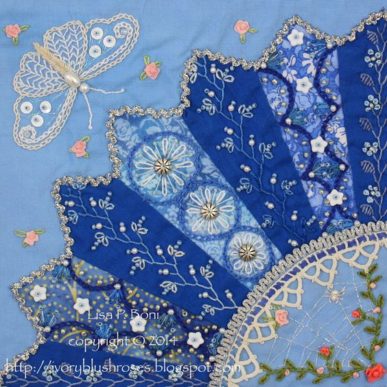 Part of a Crazy quilt by Lisa P. Boni:
