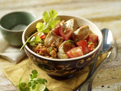 Rezept Hähnchen-Curry mit Linsen und Tomaten, unser Rezept Hähnchen-Curry mit Linsen und Tomaten - gofeminin.de
