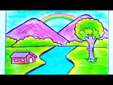 رسم منظر طبيعي سهل بالقلم الرصاص خطوة بخطوة رسم سهل جدا Youtube Art