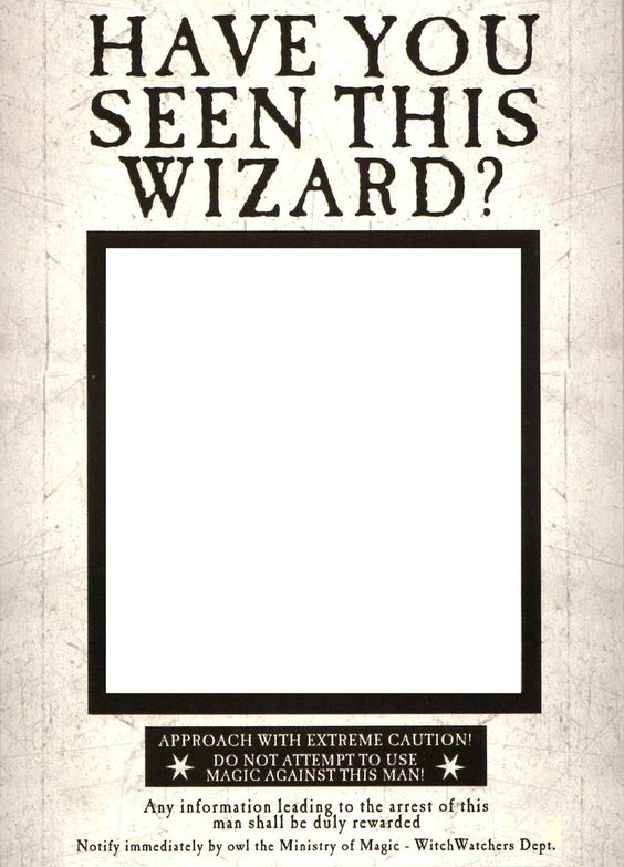 Revered image within harry potter have you seen this wizard printable