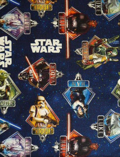 Star wars fabric uk d and star wars on pinterest for Star wars fabric