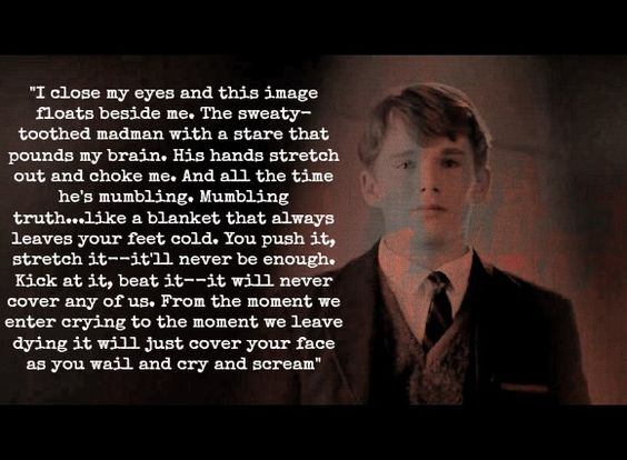 """I close my eyes and an image floats beside me…"" -Dead Poets Society"