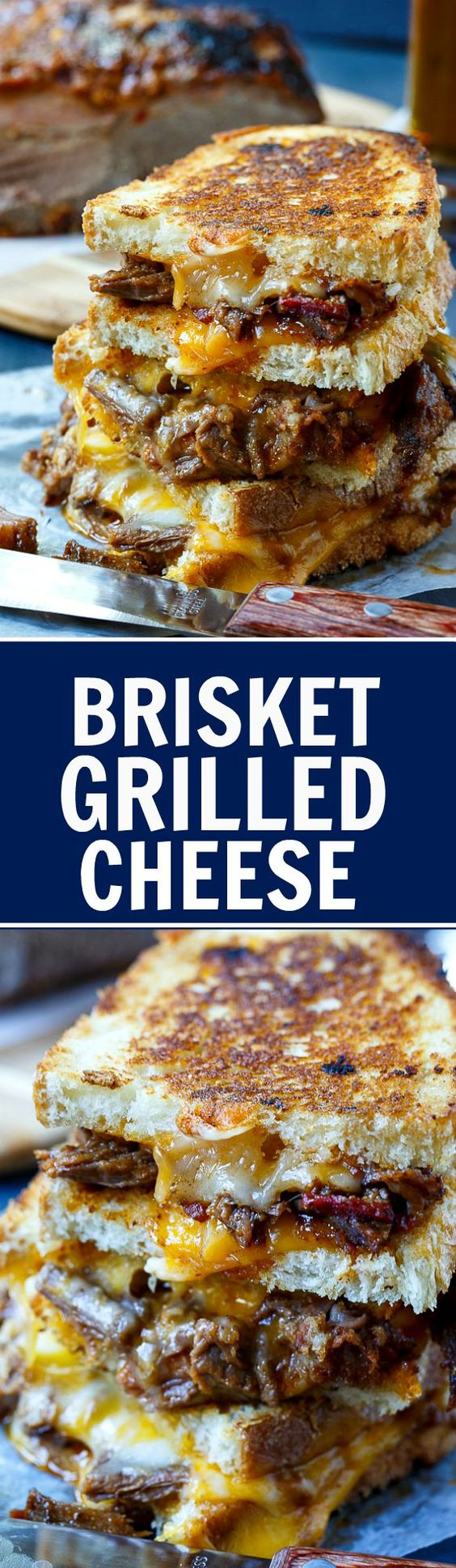 Brisket Grilled Cheese - the most delicious way to use up leftover ...