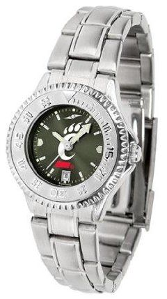 Cincinnati Bearcats UC NCAA Womens Steel Anochrome Watch by SunTime. $86.95. Showcase the hottest design in watches today! The functional rotating bezel is color-coordinated to compliment your favorite team logo. The Competitor Steel utilizes an attractive and secure stainless steel band.The AnoChrome dial option increases the visual impact of any watch with a stunning radial reflection similar to that of the underside of a CD. Perceived value is increased with the AnoChro...