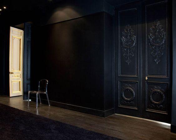 La Maison Champs Elysee by Martin Margiela black hallway acrylic chair