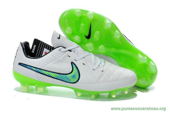 Mens Nike Tiempo Legend V FG White/Green 2015 Soccer Cleats