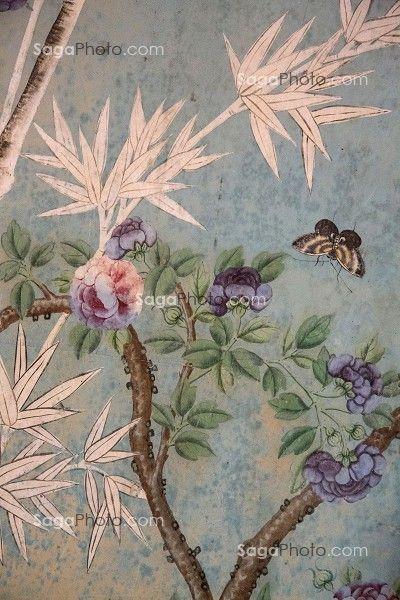 chateau de maintenon papier peint chinois de la salle de bain chinoiserie pinterest chateaus. Black Bedroom Furniture Sets. Home Design Ideas