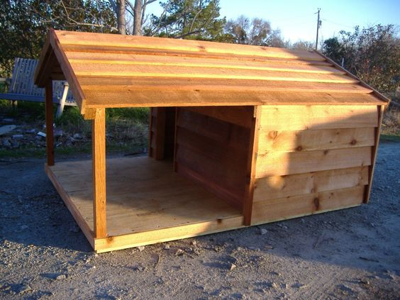 unique dog houses | custom-dog-house-with-porch-48x66x36-360-3