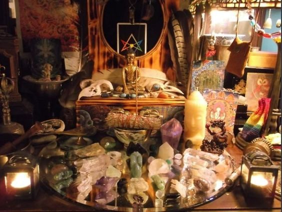 Mystical bedroom pinned by the mystic 39 s emporium on etsy for Pagan decorations for the home