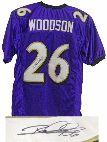 Rod Woodson Baltimore Ravens Signed Purple Custom Jersey - Schwartz COA