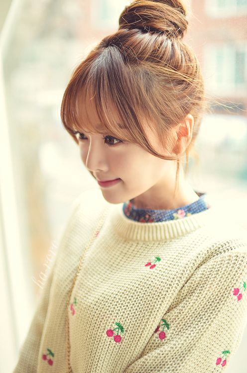 Hairstyle Korean : korean hairstyles hair love the white sweaters blue korea bangs ...