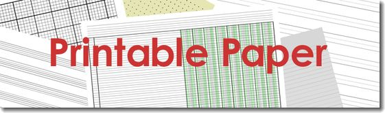 Printable templates - everything from scorebooks to graph paper