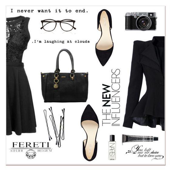 """""""# I/12 Fereti"""" by lucky-1990 ❤ liked on Polyvore featuring moda, Illesteva, Nine West, BOBBY, NARS Cosmetics e Fereti"""