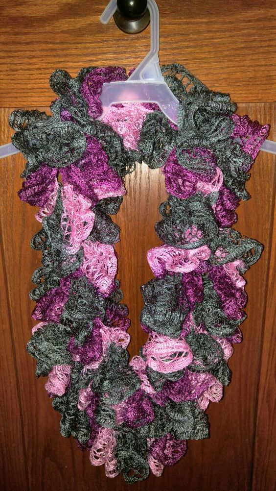 Infinity Ruffle Scarf - Ballet by Everything2009 on Etsy