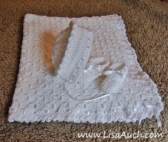 Free Crochet Patterns Christening Blankets : Free Crochet Patterns for Baby Christening Sets Hats ...