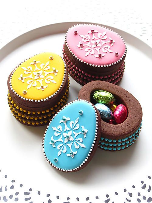 Easter Egg Cookie Box: