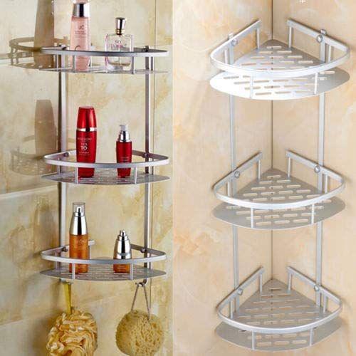 Phasuk 3 Layer Bathroom Shower Caddy Shelf Corner Bath Wall Mount
