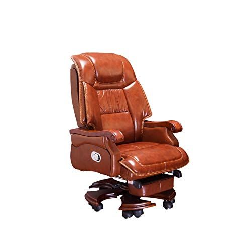 Cqiang The Original Manufacturer Made The Boss Chair The First Layer Of Leather Can Lie Down And Can Also Rest Boss Chair Leather Swivel Chair Executive Chair