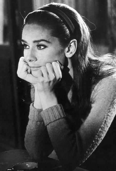 Audrey Hepburn on the set of Two For The Road, 1967.: