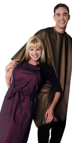 purple apron... Can never have enough cute aprons. Salon Waterproof Cape and Aprons by THE CAPE COMPANY @ ProHairTools.com