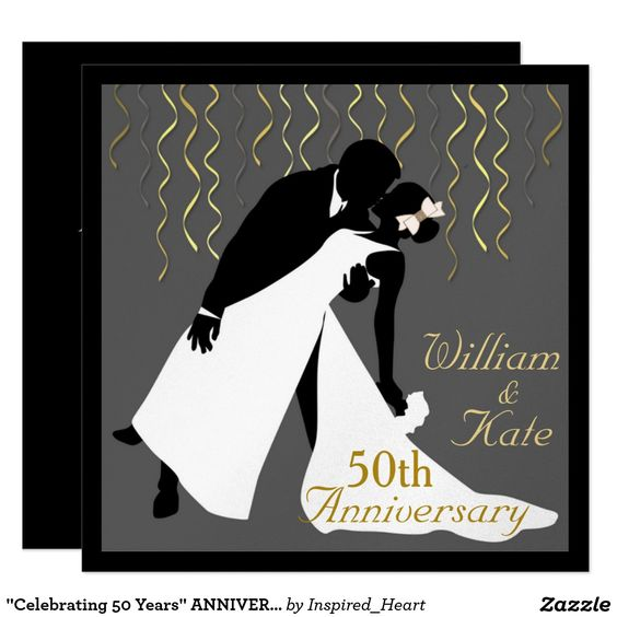 """Celebrating 50 Years"" ANNIVERSARY INVITATION"