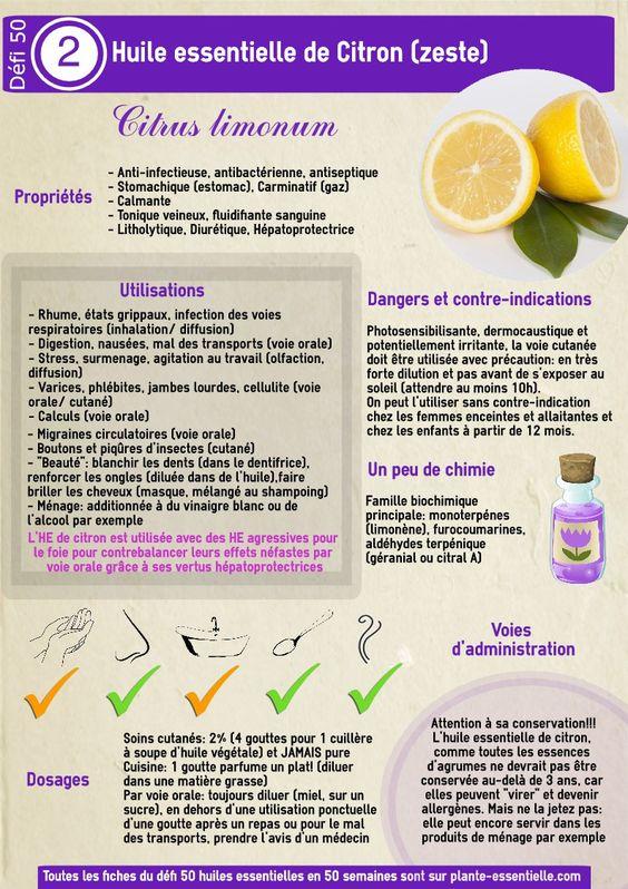 Comment utiliser l'huile essentielle de citron zeste (Citrus limonum)?