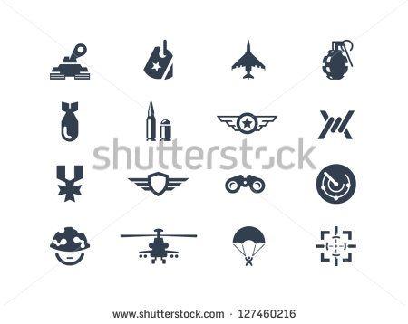 Ícones de guerra e militar