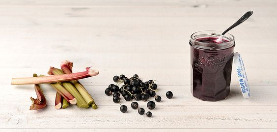 Confiture cassis/rhubarbe