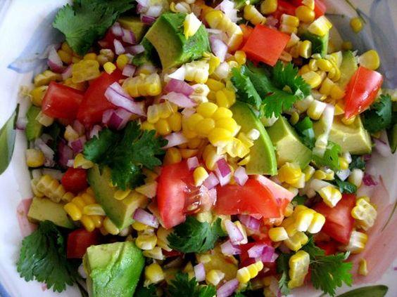 Corn Avocado Salad Avocado Salads And Avocado On Pinterest