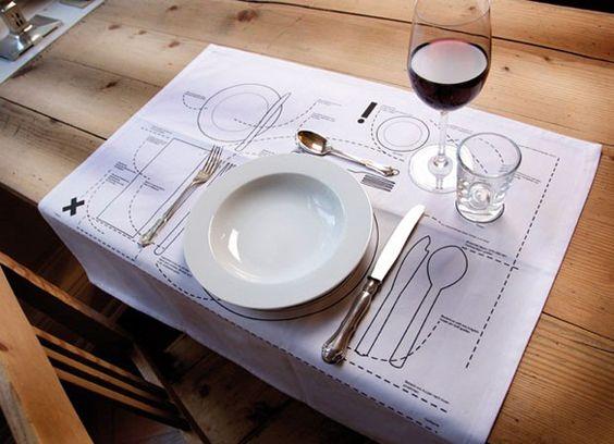 Jantar Etiquette para o próximo nível: Kniggerich Individuais 1 - https://www.facebook.com/different.solutions.page