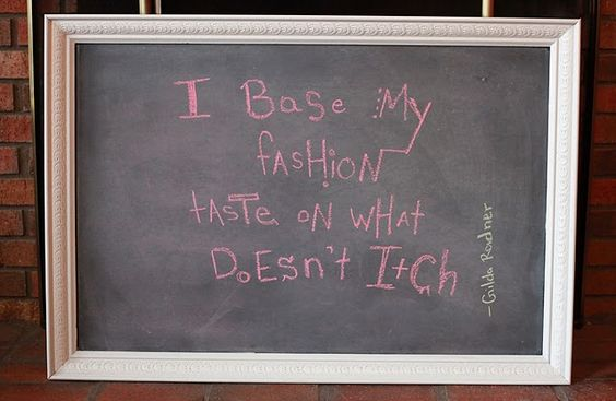 Wise words about fashion...