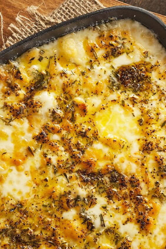 Baked Fontina Cheese Dip Recipe with Garlic, Thyme, and Rosemary.Made ...