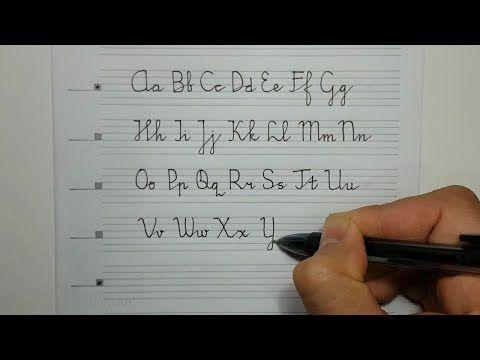 Belajar Menulis Halus Huruf Latin Besar Kecil Tegak Bersambung A Z Contoh Teks Pancasila Youtube Huruf Kristik Pengenalan Huruf Huruf