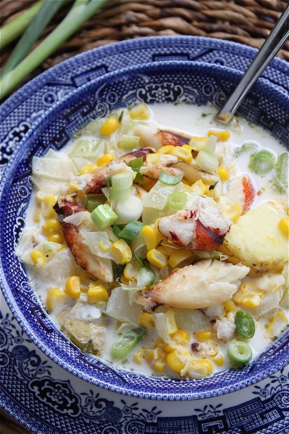 Summer Corn and Crab Chowder from A Big Mouthful
