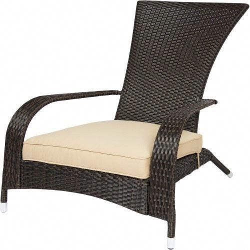 Wicker Adirondack Chair Patio Porch Deck Furniture Outdoor All Weather Proof Beige Adirondackchairs Outdoor Chairs Patio Chairs Deck Furniture