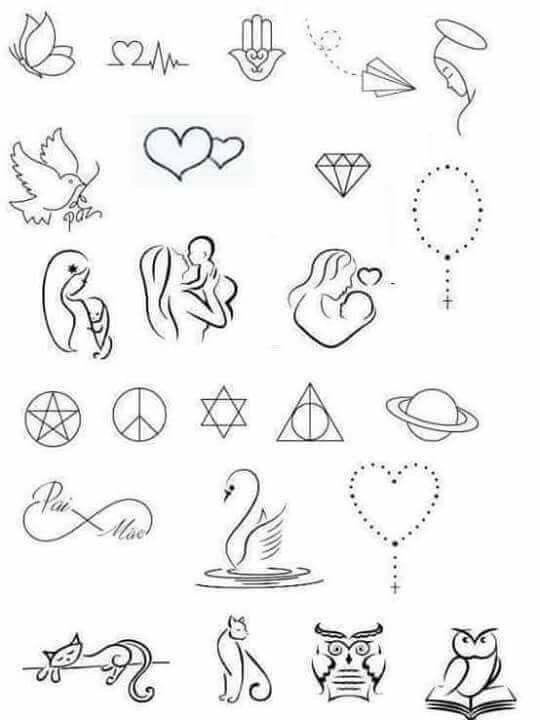 Tatuagens Tatuagens Pequenas Bonitas Desenhos Pequenos Para
