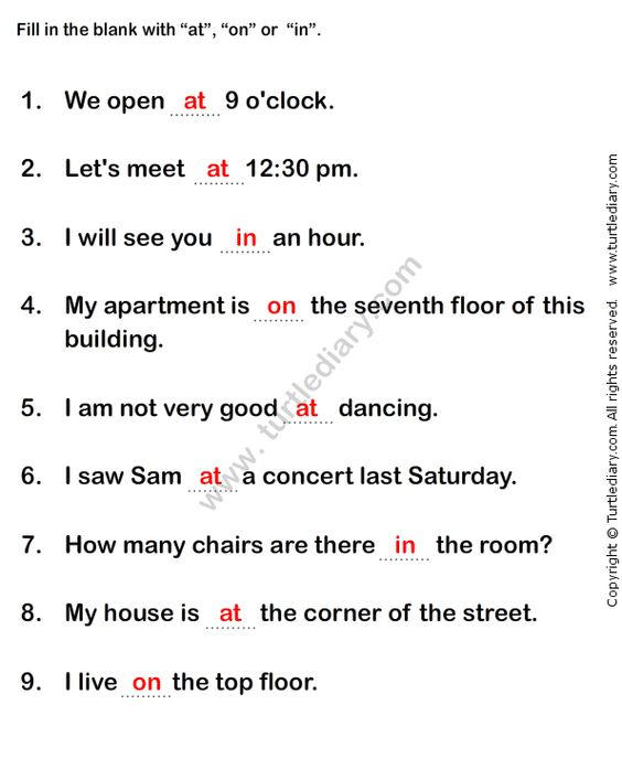 Number Names Worksheets » English Grammar Exercises For Kids ...