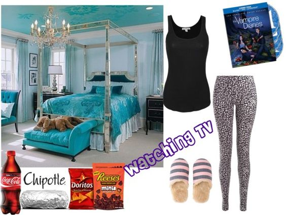 """Watching Tv"" by breya ❤ liked on Polyvore"