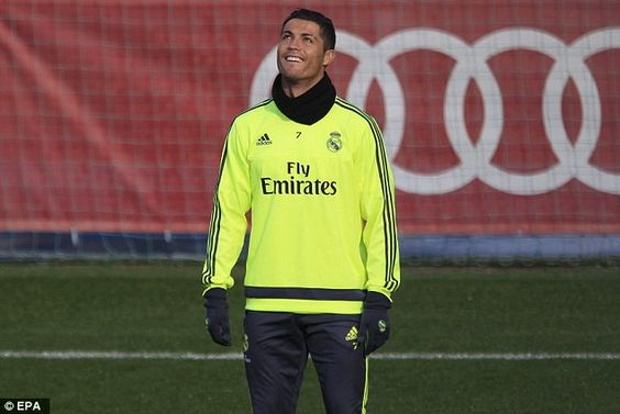 Cristiano Ronaldo is all smiles in training as Real Madrid aim to get back on track in their La Liga title bid