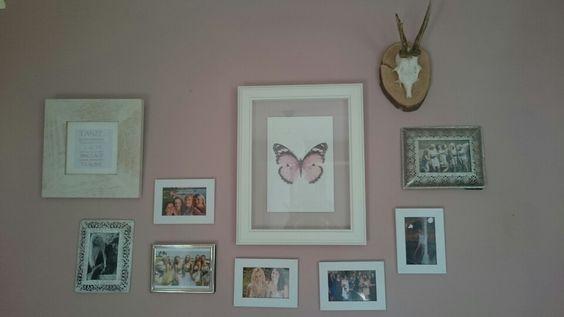 Mädchenzimmer rosa Schmetterling Gwichtl  Rahmen weiß silber <3