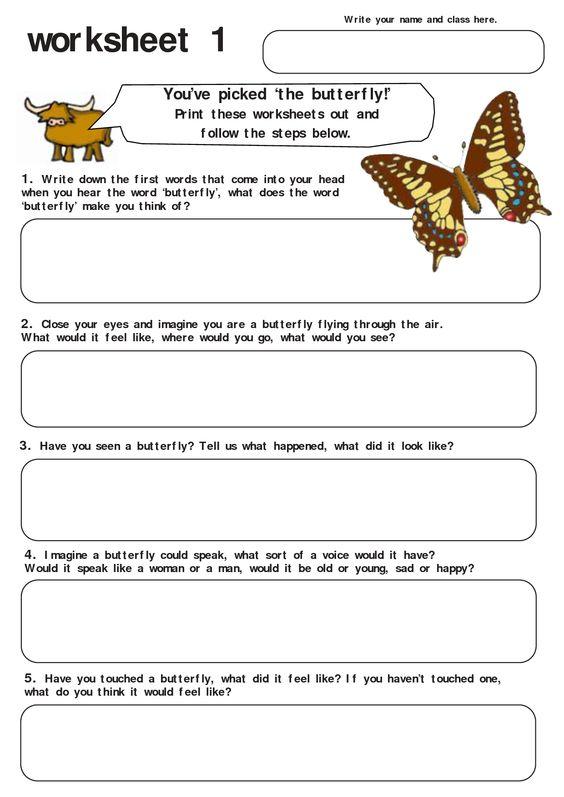 butterfly worksheet quotsummer campquot pinterest