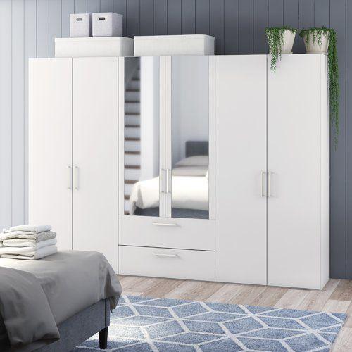 Ebern Designs Ammiras 2 Door Wardrobe 2 Door Wardrobe Hanging Rail Bedroom Cabinets