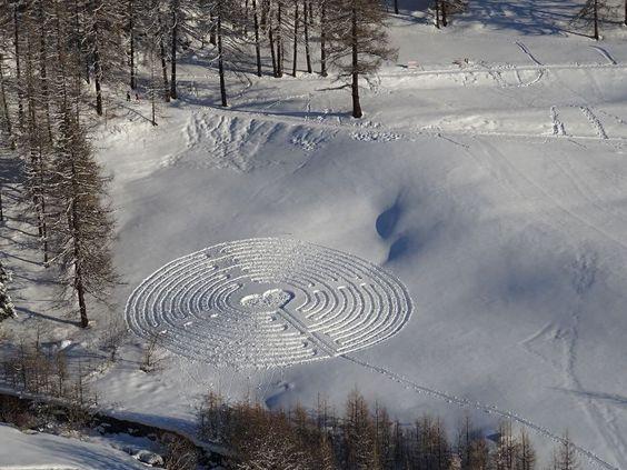 Il Labirinto di San Valentino, Gian Mario e Eric Navillod, Chamois, Valle d'Aosta.