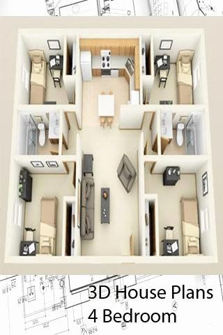 3d Home Design Software Free Download For Android Elegant 3d House Plans 4 Bedroom For Andro In 2020 Basement House Plans 4 Bedroom House Plans One Bedroom House Plans