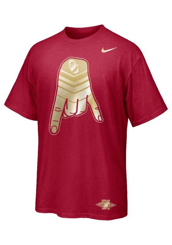 Oklahoma Sooners Nike T Shirt Crimson Red River Rivalry