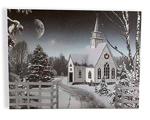 Banberry Designs Christmas Wall Art Led Lighted Canvas Https Www Amazon Com Dp B07fcsh99j Ref Cm Sw Christmas Wall Art Lighted Canvas Christmas Canvas
